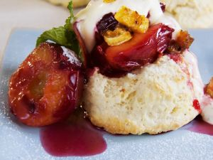 Biscuits with Stone Fruit recipe
