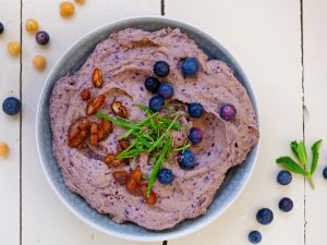 Blueberry Hummus with Dates recipe