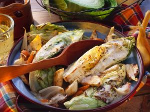 Braised Cabbage with Carrots recipe