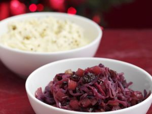 Braised Cabbage with Root Veg Mash recipe