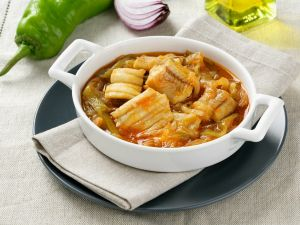 Braised Sole with Peppers recipe