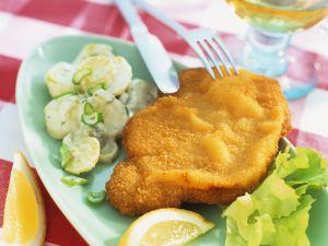 Breaded Turkey Schnitzel with Potato Salad recipe