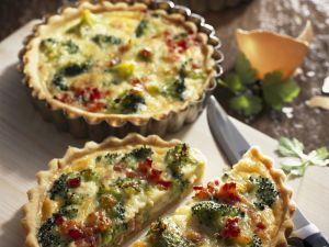 Broccoli and Bacon Quiches recipe