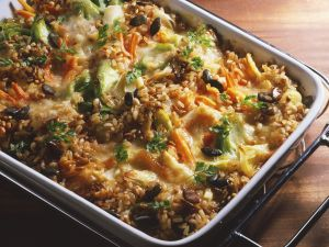 Brown Rice, Wheat Berry and Vegetable Casserole recipe