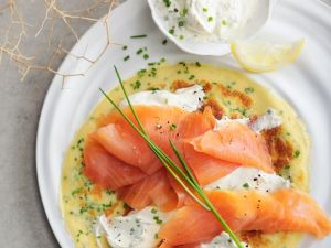Brunch Pancakes with Smoked Fish recipe
