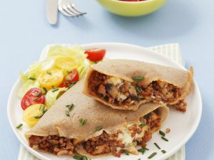 Buckwheat Crepes with Meat and Mushrooms Filling recipe