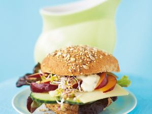 Burger Topping with Plum and Sprouts recipe