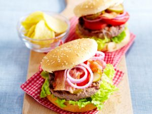 Burger with Bacon recipe
