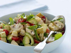Button Mushroom Salad Bowl recipe