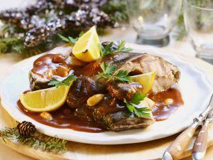 Carp Steaks with Sauce recipe