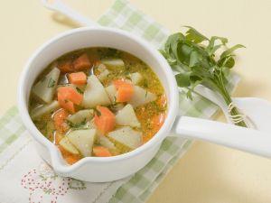 Carrots and Kohlrabi Soup recipe