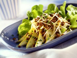 Celery and Pear Salad with Lentils recipe
