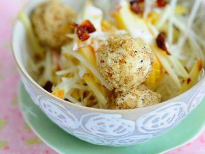 Celery Root Salad with Creamy Tofu Balls recipe