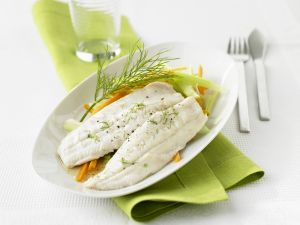 Char Fillets with Vegetables recipe