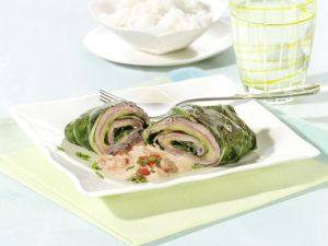 Chard Rolls Stuffed with Ham and Cheese recipe