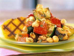 Charred Veggies with Cornmeal recipe