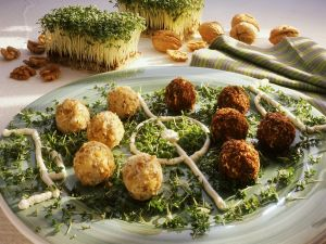 Cheese Balls on a Soccer Field recipe