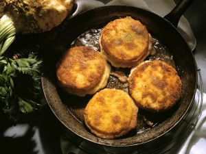 Cheese, Ham and Celery Patties recipe