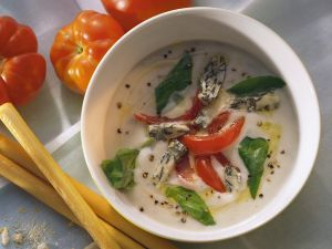Cheese Soup with Tomatoes recipe