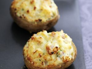 Cheesy Baked Potato Halves recipe