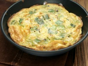 Cheesy Leek Frittata recipe