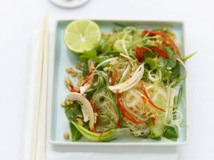 Chicken and Mint Noodle Salad recipe