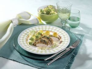 Chicken Breast Fillet with Herb Crust and Lime Hollandaise recipe