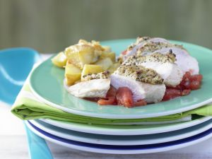 Chicken Breast with Olive Crust recipe