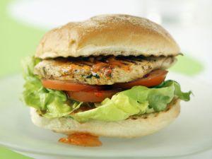 Chicken Burgers with Chili Sauce recipe