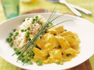 Chicken Curry with Peas and Rice recipe