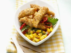 Chicken Fingers with Fruity Salsa recipe