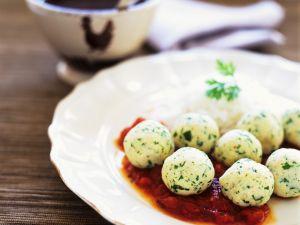 Chicken Meatballs with Tomato Sauce recipe