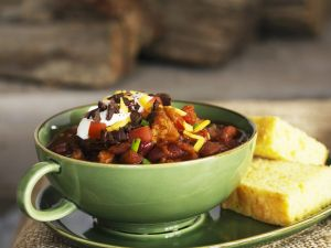 Spicy Meat Stew with Cornmeal Slices recipe