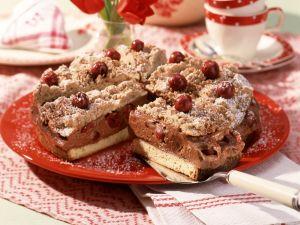 Chocolate and Cherry Cream Streusel Torte recipe