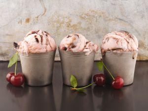 Chocolate and Cherry Ice Cream recipe