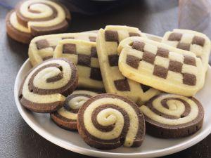 Chocolate and Vanilla Cookies recipe