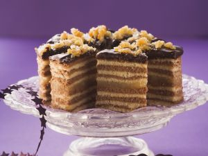 Chocolate and Vanilla Layer Cake recipe