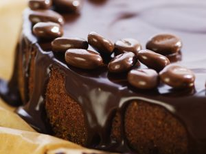 Chocolate Cake with Mocha Beans recipe