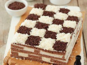 Chocolate-Coconut Checkerboard Cake recipe