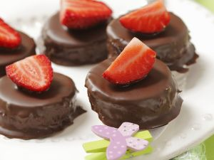 Chocolate Strawberry Petit Fours recipe