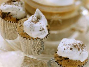 Christmas Mini Chocolate Espresso Muffins with Meringue recipe