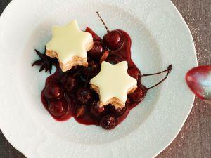 Cinnamon Parfait with Cherries recipe