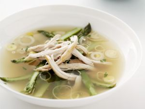 Clear Broth with Chicken and Vegetables recipe