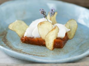Cod with Spicy Tomato Compote and Citrus Crisps recipe