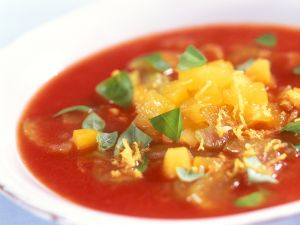 Cold Tomato Soup with Apricots recipe