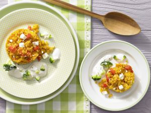 Confetti Couscous with Creamed Vegetables recipe