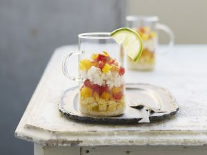 Corn and Pepper Salad with Crab recipe