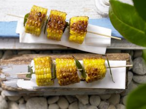 Corn Skewers with Bay Leaves recipe
