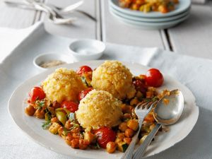 Cornmeal Dumplings with Garbanzos recipe