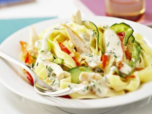 Courgette and Chicken Pasta recipe